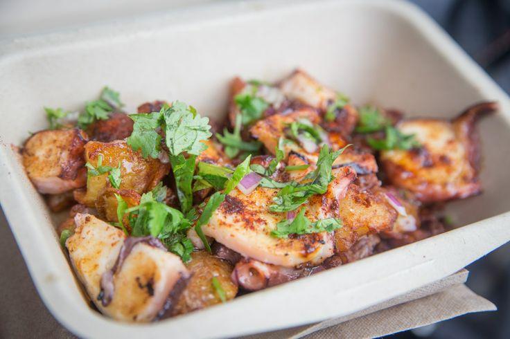 Food Trucks el Gastronomo Vagabundo - paprika-spiced octopus and potato at AwesTRUCK 2013