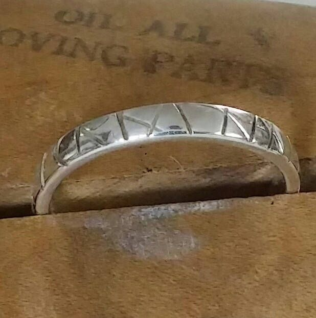 A personal favorite from my Etsy shop https://www.etsy.com/ca/listing/532180654/line-design-sterling-silver-band-ring