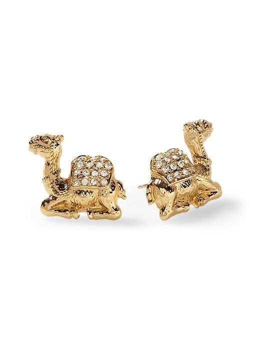 Camel Stud Earrings