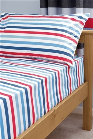 Buy Red and Blue Stripe Sheet Set from the Next UK online shop