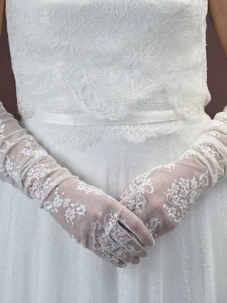 Kanten bruidshandschoen Poirier