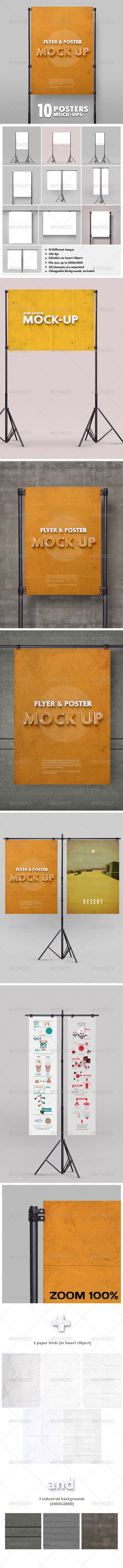 Poster Mockup vol.2 / 10 Different Images - Download…