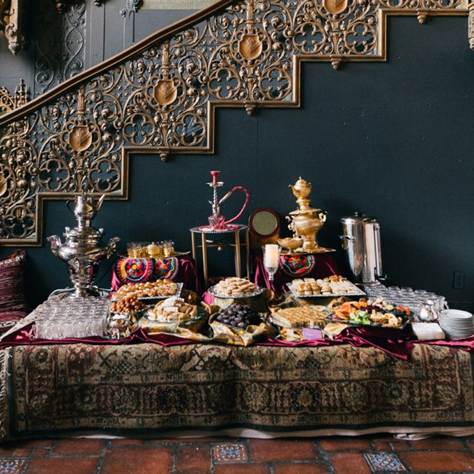 Creative Wedding Dessert Bar Ideas: Persian Dessert and Tea Bar