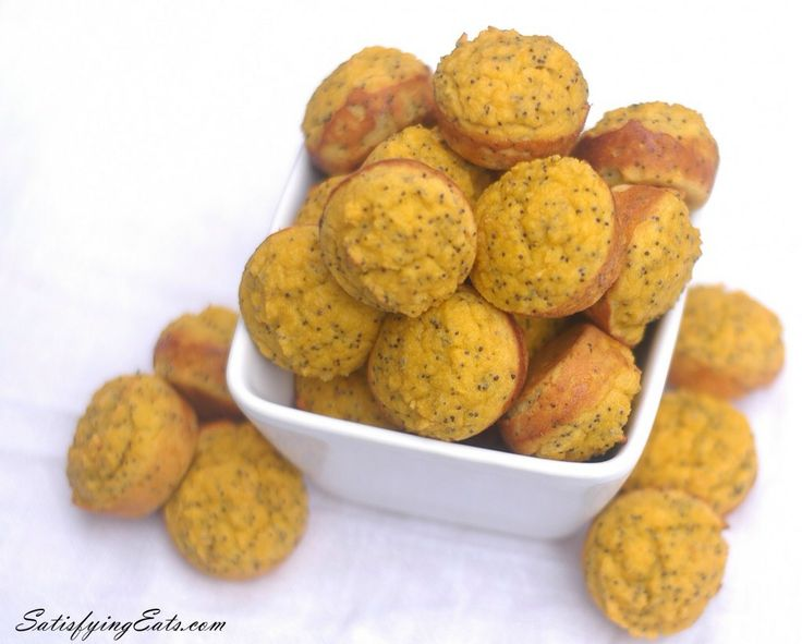 Lemon Poppy Seed Mini Muffins | Foodie: Your Recipes. Your way.