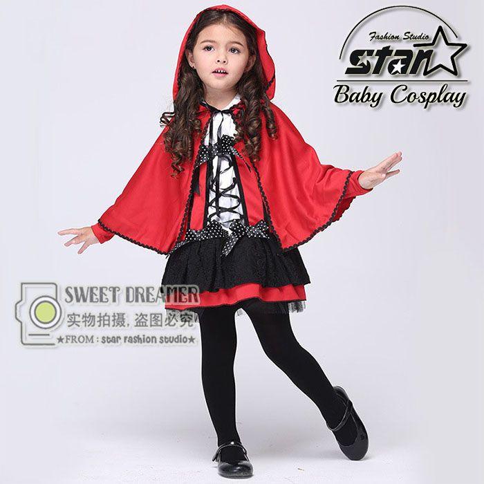$25.00 (Buy here: https://alitems.com/g/1e8d114494ebda23ff8b16525dc3e8/?i=5&ulp=https%3A%2F%2Fwww.aliexpress.com%2Fitem%2FGirls-Little-Red-Riding-Hood-Dress-Costumes-Halloween-Christmas-Cosplay-Carnival-Show-Costume-Role-playing-With%2F32713555149.html ) Girls Little Red Riding Hood Dress Costumes Halloween Christmas Cosplay Carnival Show Costume Role-playing With Cloak Uniform  for just $25.00