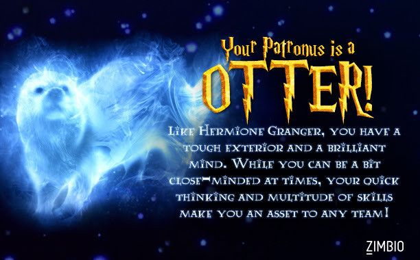 I took Zimbio's Patronus quiz and got Otter! What's yours? - Quiz