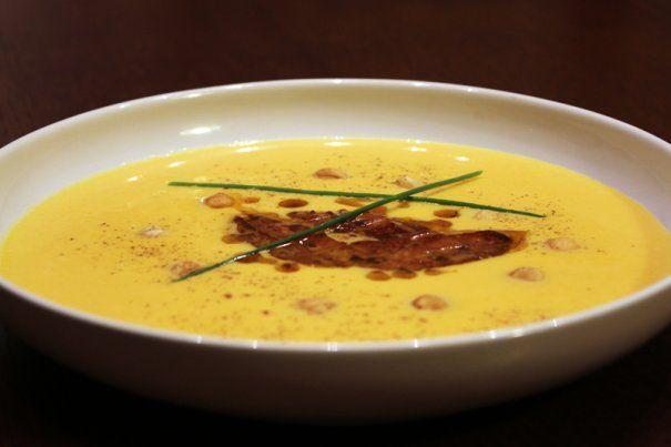 Supă cremă de dovleac cu foie gras | Supe si Ciorbe | printesapolonic.ro