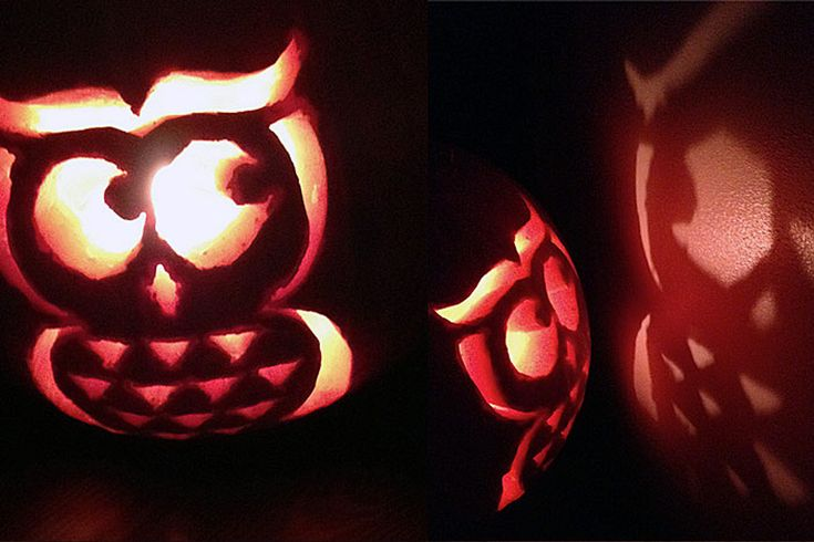 FREE Printable Owl Pumpkin Carving Template #pumpkin #Halloween