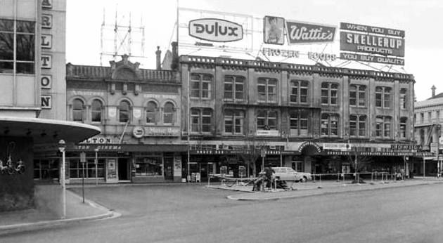 Kevin Hill photo with the Carlton Cinema at the left of the shot in Cathedral Square.