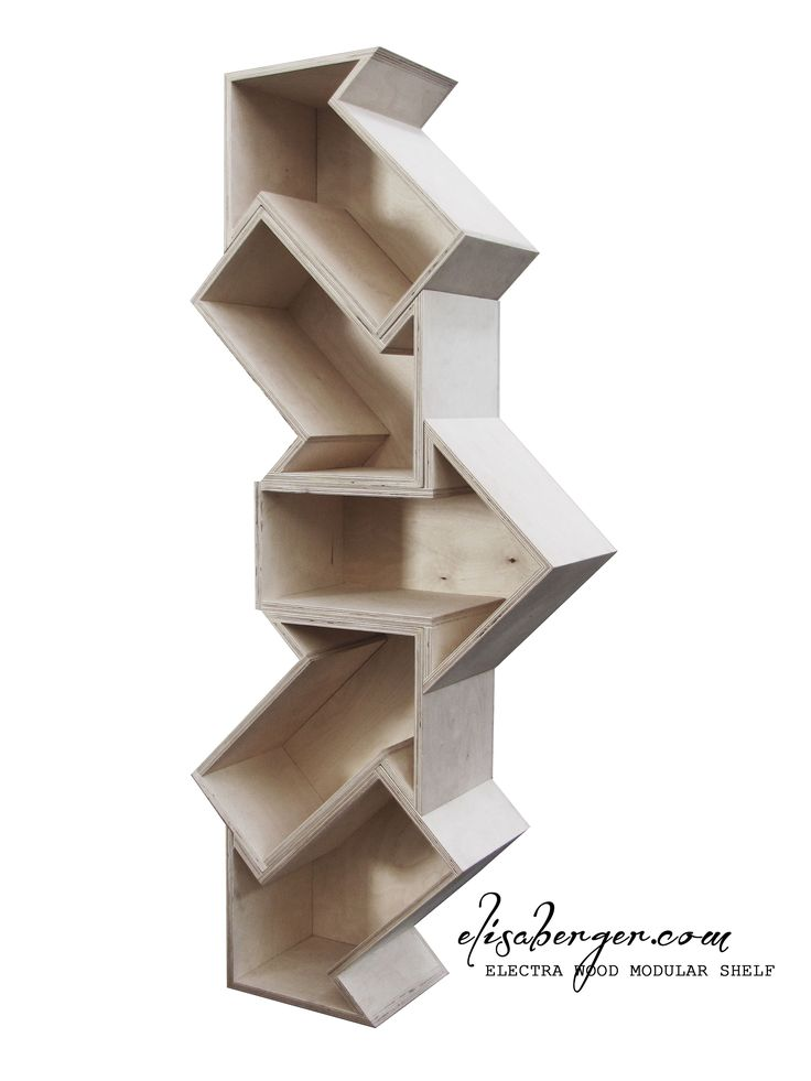 ELECTRA wood modular shelf , Designer Elisa Berger