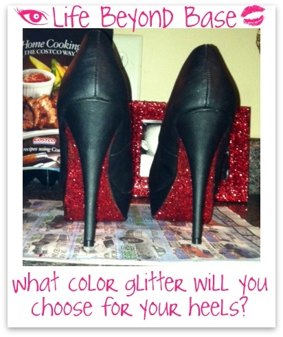 glitter the bottom of your heels