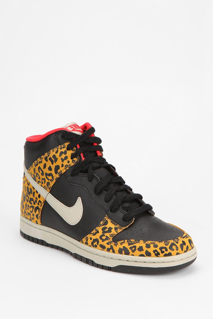 Nike Animal Print Dunk High-Top Sneaker  #UrbanOutfitters