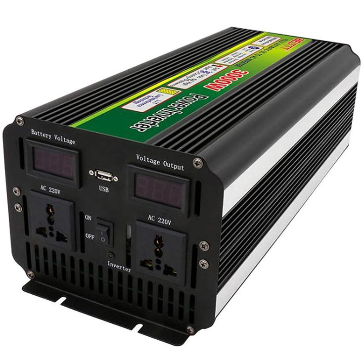 3000W 6000W <b>Peak</b> 12V/24V to 220V <b>Power Inverter</b> for Solar/Wind ...