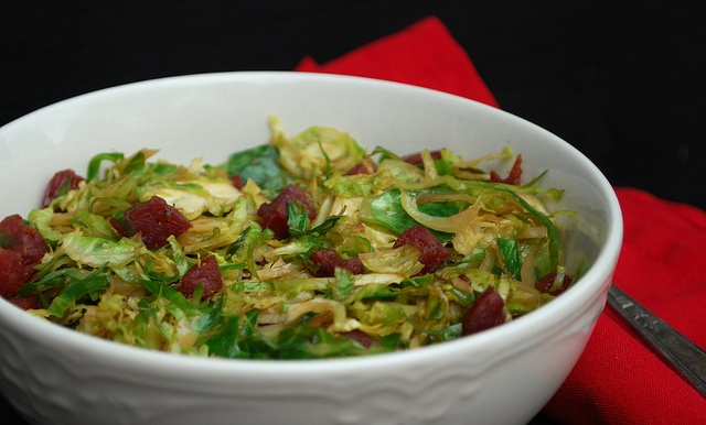 Brussel Sprouts with Chinese Sausage2 by firefly64, via Flickr