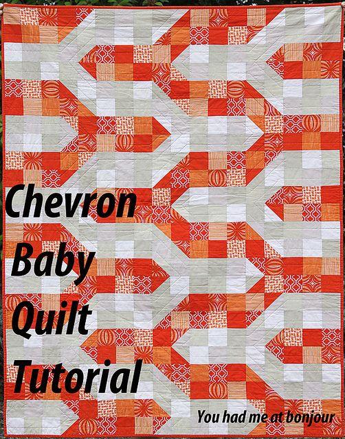http://youhadmeatbonjourblog.blogspot.com/2012/03/tutorial-modern-chevron-baby-quilt-crib.html