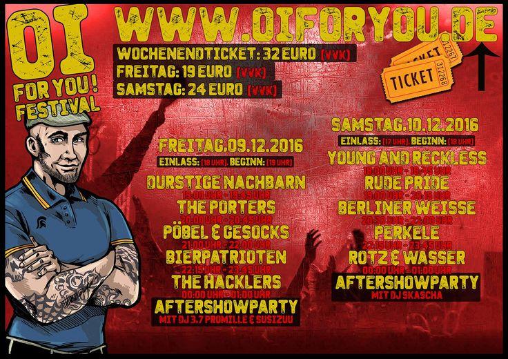 10. Oi! For You Festival – 09 – 10.12.2016 – Factory Magdeburg +++ www.oiforyou.de + https://www.facebook.com/events/219886845060964 +++