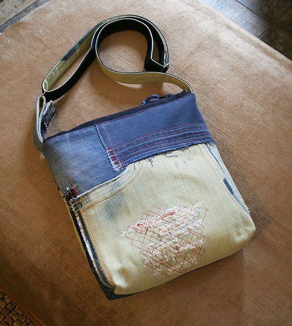 "Denim bag ""Sand and Sky"" by DenimAge on Etsy"