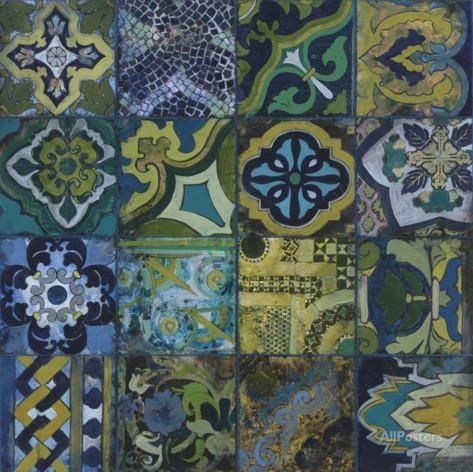 Cobalt Mosaic II Posters by John Douglas - at AllPosters.com.au