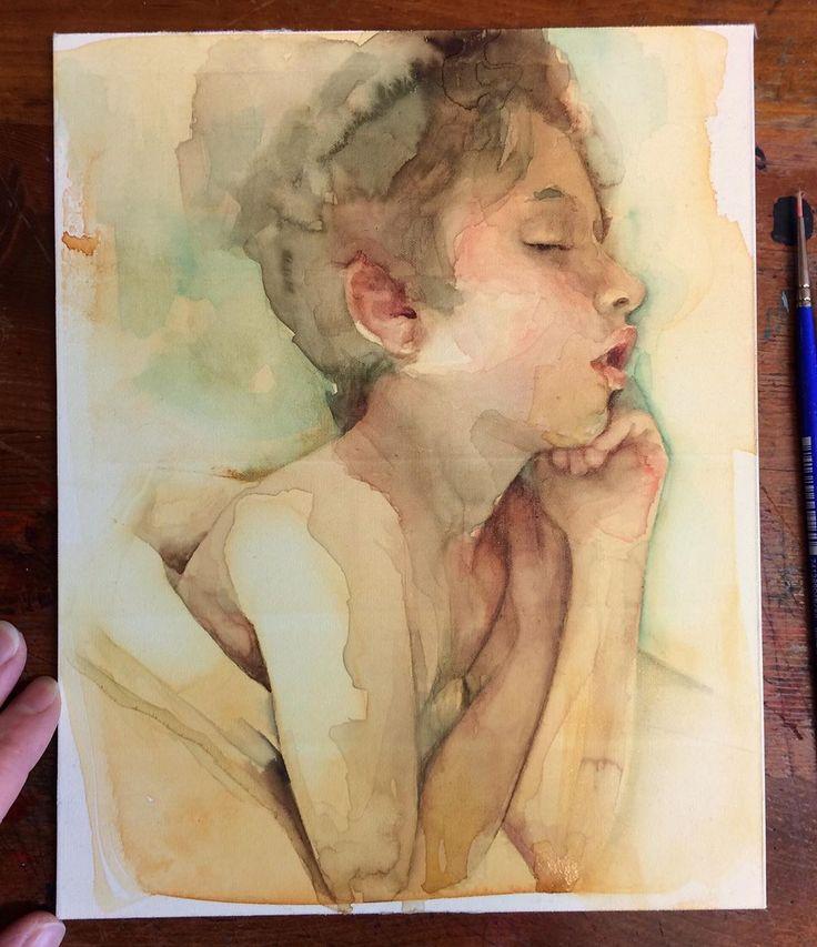 immerse   Watercolor portrait tutorial, Watercolor
