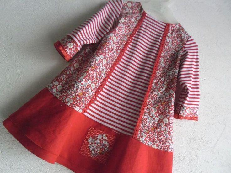 superbe robe de petite fille pour inspiration association couleurs et motifs