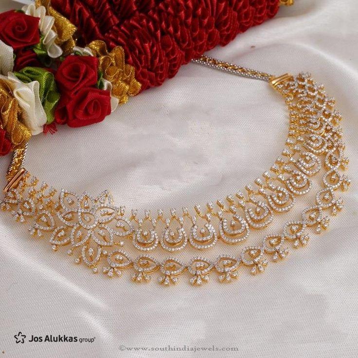Gold Diamond Necklace Design from Josalukkas, Diamond Necklace Design from…