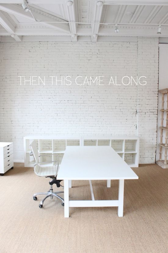 coco+kelley pioneer square office. #whiteofficefurniture
