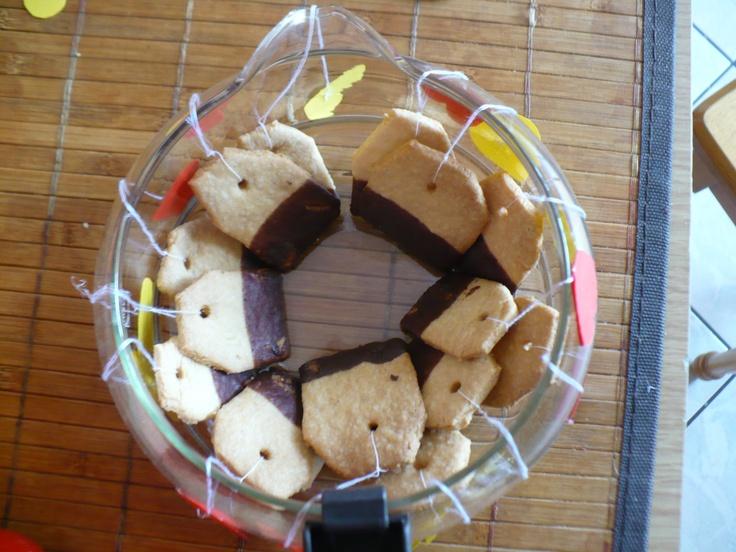 Tea bags cookies