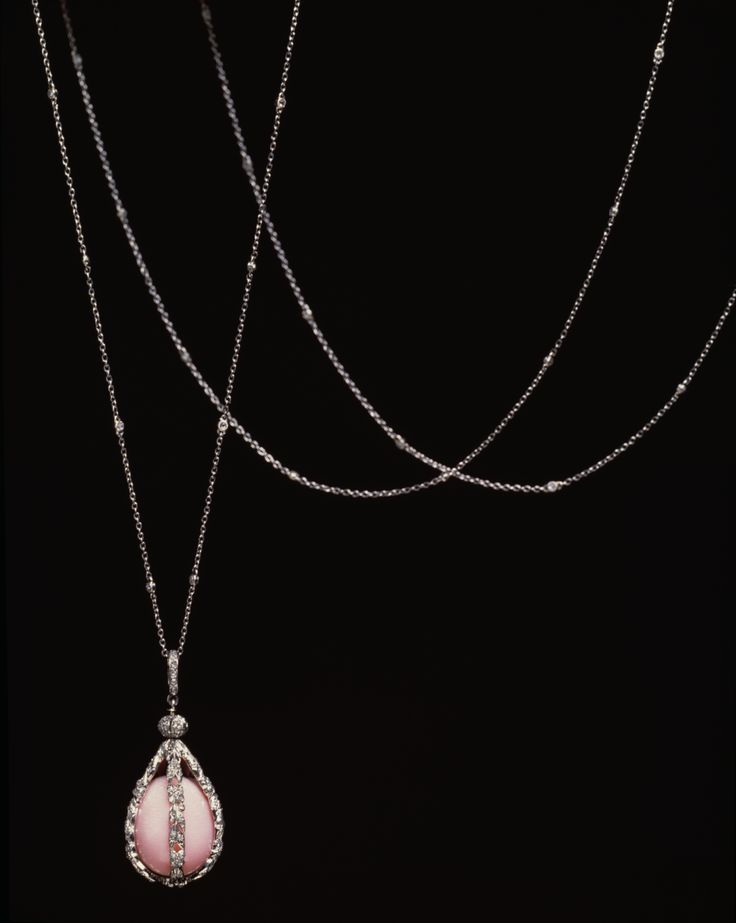 Tiffany & Co. Exquisite Sautoir with Conch Pearl Pendant Necklace via the Walters Art Gallery, Baltimore, MD