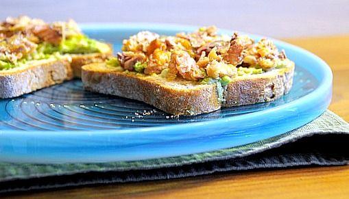 Cilantro-Lime Sardine Salad In Avocado Halves Recipe — Dishmaps
