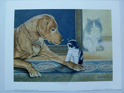 $24.99 Animals Dog Cat Kitten Open Edition Art Print, The Adoption by JAMES LUMBERS