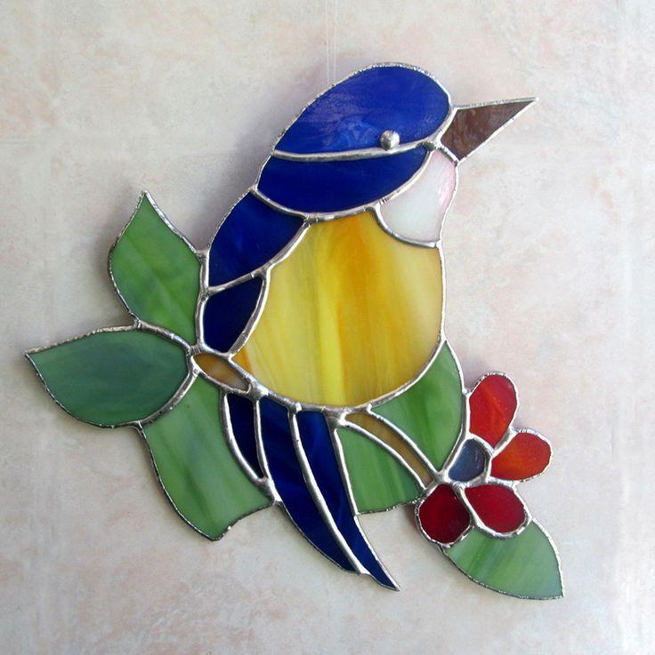 17 meilleures id es propos de oiseaux en vitraux sur for Petit oiseau avec houpette