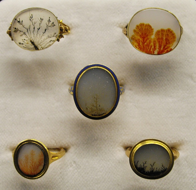 moss agate rings/tiny landscapes