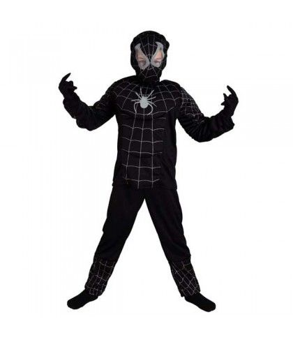 Άνθρωπος Αράχνη Μαύρος o κακός σούπερ ήρωας σε στολή για αγόρια