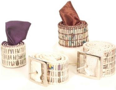 Belts made from Recycled Newspaper