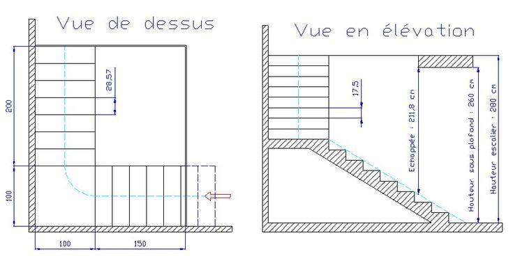 calcul escalier avec palier recherche google escalier. Black Bedroom Furniture Sets. Home Design Ideas