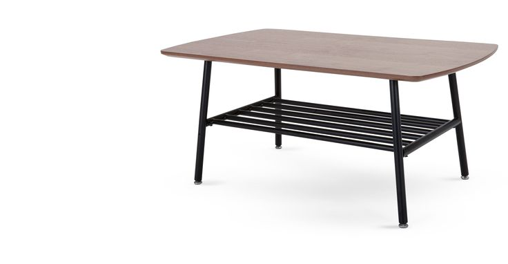 Haywood, une table basse, noyer et noir   made.com