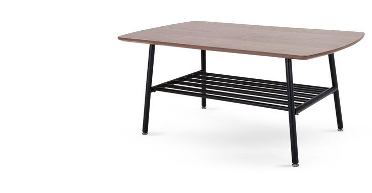 Haywood, une table basse, noyer et noir | made.com