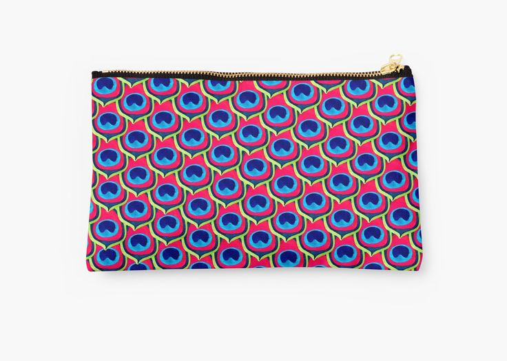 Watercolor & digital pattern of Retro inspired Peacock feathers • Also buy this artwork on bags, apparel, stickers, and more. Retro inspired Peacock design. #bag #peacock #bird #fashion @redbubble