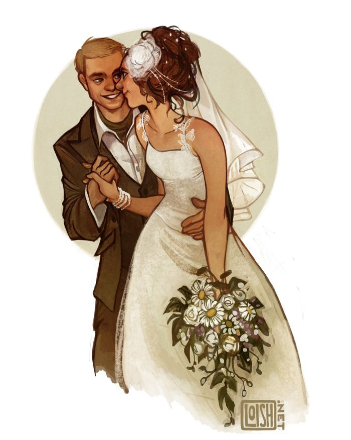 Арт открытки свадьба