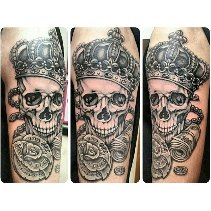 #SkinEvolutionTattoo #KONOMI #konomiangel #tattoo #blackandgray #realistic #Gochic #Chicano #portrait #crown #skull #moneyrose #money #タトゥー #王冠 #スカル