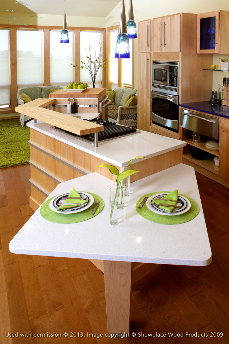 Mouser usa kitchens and baths manufacturer - Contemporary Kitchen This Uniquely Shaped Island Creates An Artsy Feel While Still Being Functional