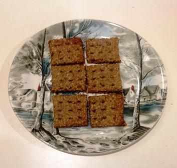 Savoury Walnut and Oat Crackers