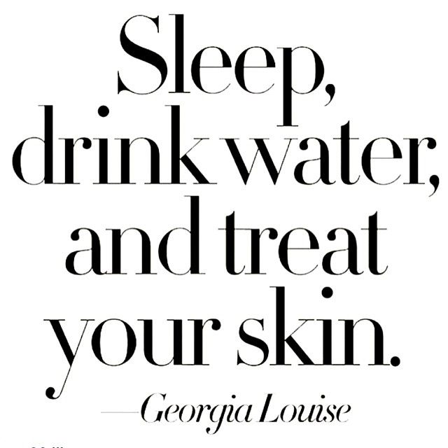 """Sleep, drink water, and treat your skin."" -Georgia Louise  Good advice! We can help you with all of your skincare needs at http://www.texasdls.com/. Check out our website for treatment options and to schedule your consultation today. #texasdls"