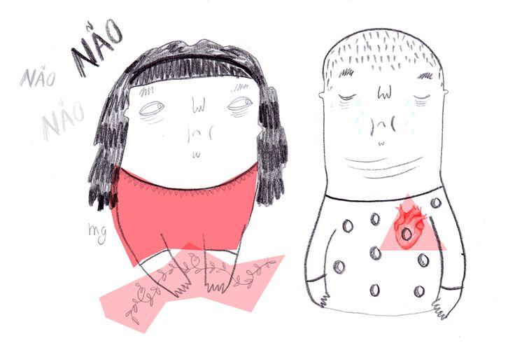 """Liliana Fernandes é psicóloga e mora em Monção. Mafalda Gomes é ilustradora/designer e está em Lisboa. As diferenças e os 450 quilómetros aproximaram-nas. Conheceram-se """"por acaso"""" e a agenda """"Heartless"""" ficou pronta a 19 de Dezembro — e não foi por acaso. """"É uma menina racional mas que no fundo tem as emoções na palma da mão"""", explicou ao P3 Liliana. """"É resultado daquilo que eu e a Mafalda somos, enquanto pessoas e profissionais: racionais, sonhadoras, um pouco infantis, muito emotivas e…"""