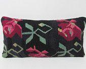 kilim pillow colorful throw pillow lumbar pillow wool throw pillow floor cushion designer cushion oversized throw pillow floor pillow 26028