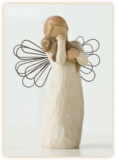 Willow Tree Angel of Friendship -- I've never thought much of these angels...until I saw the ones with DOGS in their arms. LOVE this!