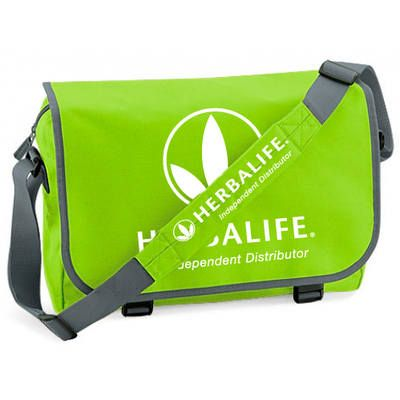 Lime Messenger Bag With Herbalife Logo