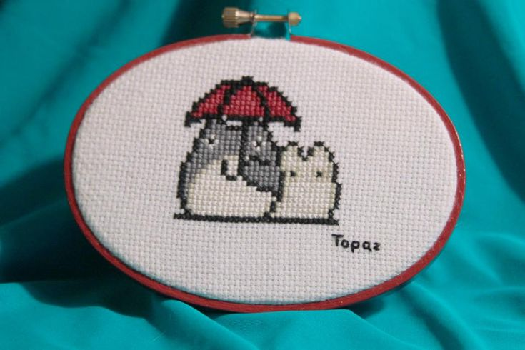 Totoro Cross Stitch View 1 by *MissTopaz on deviantART