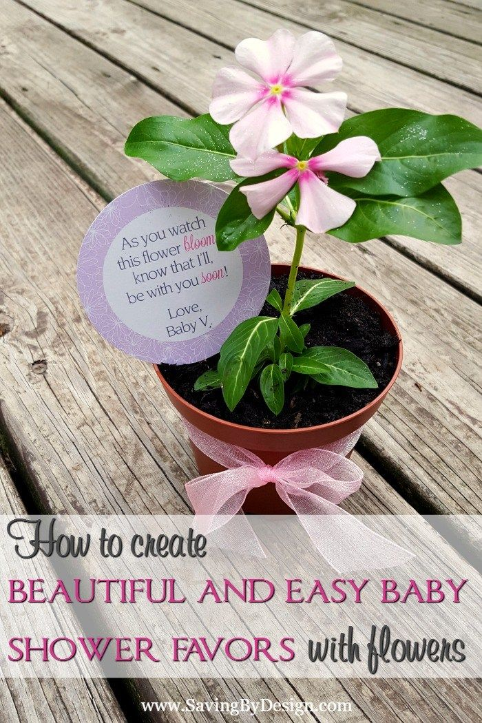 Having a spring or summer baby shower? These simple flower baby shower favors will serve as a sweet reminder of the beautiful baby on the way!