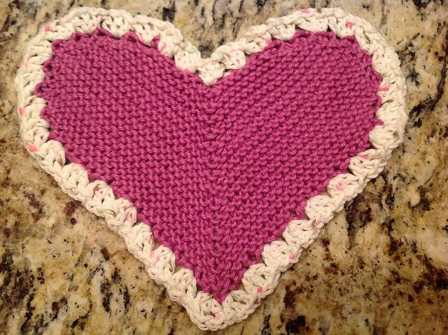 cute heart cloth can be doubled to make a